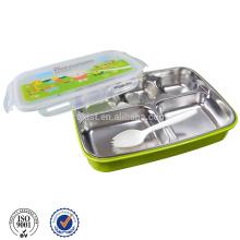garder la nourriture chaude boîte à lunch en plastique et en acier inoxydable