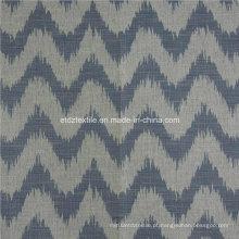 Hot Linen Like jacquard design de tecido de cortina de janela de têxteis macios
