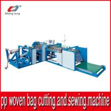 Machines automatiques de découpe et de couture pour sac en plastique en tissu tissé PP