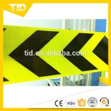 6 '' fluorescente amarelo verde e preto, seta fita adesiva reflexiva