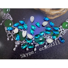Emerald Drop Sew on Stones for Costume Decoration (DZ-3065)