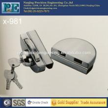 981 mitad redondo de acero inoxidable de fabricación de bronce de bloqueo de núcleo de doble puerta de cristal de una sola cabeza de bloqueo