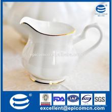 Высококачественный набор для чайных принадлежностей молочный горшок, белый молочный горшок тонкий фарфор