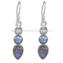 Labradorite And Multi Gemstone 925 Sterling Silver Earring