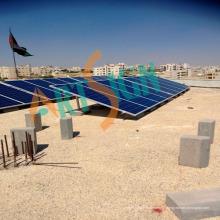 Support solaire pour toit plat en béton
