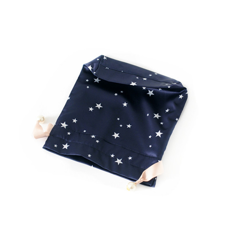 Dark Blue Satin Bag