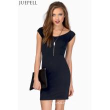 Fashion Women Collar Strapless Short-Sleeved Slim Package Hip Skirt Mini Dress