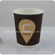 Tasse jetable de papier de café de conceptions concordantes avec le couvercle