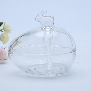 Easter Glass Egg Jar Voor Candy Bunny Handle