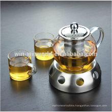 Hot Sales Deluxe Pryex Glass Tea Pot With Tea Strainer Manufacturer