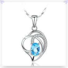 Prata jóias colar de cristal 925 prata esterlina jóias (nc0105)