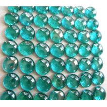 Großhandel farbige runde flache Glasmarmore für Hausdekoration