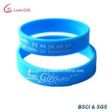 Personalizados impresión Logo silicona pulsera / brazalete de caucho