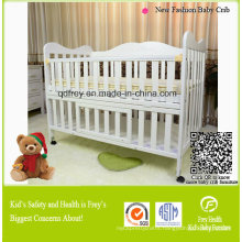 Hot Sale Solid Pine Wood Baby Furniture of Crib