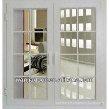 grilles de fenêtre de couleur blanche conçoivent des fenêtres en pvc