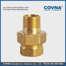 Aleación de zinc / Níquel / Cromado Superficie Racores de tubo de latón de superficie conector