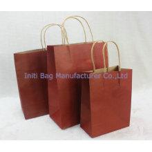 Индивидуальные ECO дружественные сумки бумажный мешок с ручками оптом