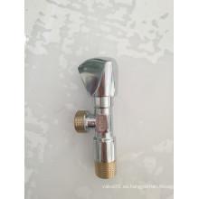 Válvula de ángulo de agua de cobre amarillo forjado de la fontanería con el precio de la fábrica (YD-5009-1)