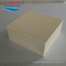 Ceramic Honeycombs as Heat Transfer Media for RTO