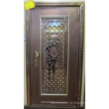 Puerta de entrada de acero inoxidable de alta calidad y barata