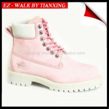 Chaussures de sécurité en cuir pour femmes avec bout en acier