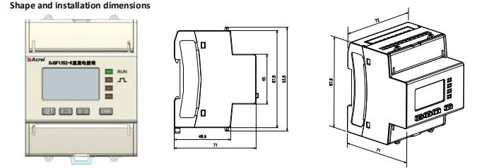 inline dc power meters