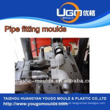 Molde de montagem de tubos, PP molde de montagem de tubo flexível (cotovelo de 90 graus), Injeção de plástico PPR PVC PE Tubo de montagem de tubos