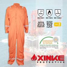 NFPA2112 EN11612 Naranja Reflectante 100% algodón resistente al fuego bombero ropa