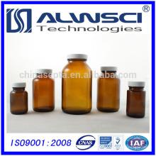 150ml de armazenamento farmacêutico amber boca larga boston redondo garrafa de vidro