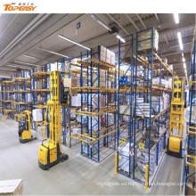 warehosue almacenamiento de acero VNA plataforma de palets
