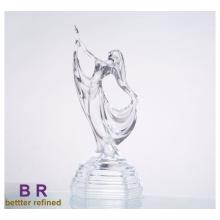 Glastanzen-Mädchen-Statue für Inneneinrichtung
