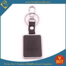Qualitäts-Großverkauf kundengebundener Firmenzeichen-Art- und Weiselederner Schlüsselring oder Kette am Fabrik-Preis