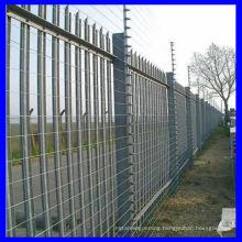1.8m high powder coated picket fencing
