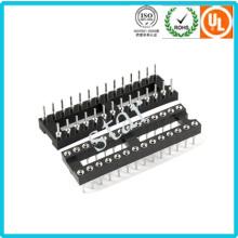 Fábrica personalizada 2,54 mm 28 pinos duplo linha Pin cabeçalho IC soquete