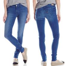 2017 Primavera Feminina Moda Skinny Jeans Algodão Denim Calças