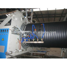 2014 PE double wall drain plastic pipe machine