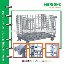 zinc plated wire mesh nesting warehouse security cage