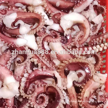 Tentáculo de lula de polvo de perna longa cozida congelada
