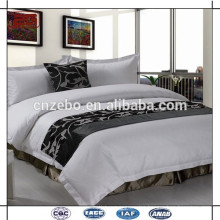 Luxury Five Star hotel 100% textile polyester bed scarf fabric