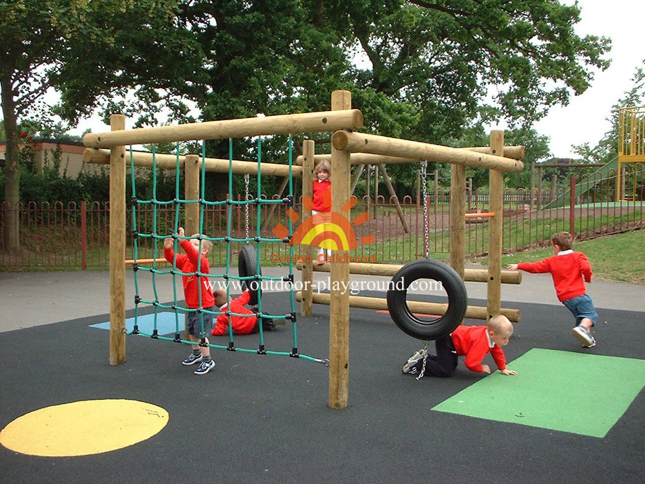 playground climber tyre play frame for children