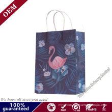 Eco-Friendly Custom Reusable Gift Bags Kraft Paper Bag Grocery Bags