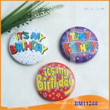 Custom impreso ronda hojalata botón insignias BM1124