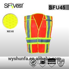 Gilet de sécurité gilet de sécurité à haute visibilité 3 m gilet de protection avec beaucoup de poches