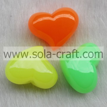 18*23*29MM Shinny Colorful Assorted Heart Charm Beads Pattern