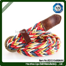 Good Quality Ladies Fashion Wax rope Colours Plaited Belts,Women Braided Belt