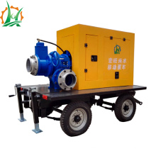 Pompe centrifuge auto-amorçante montée à la remorque diesel