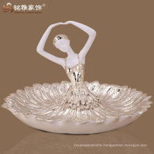 hot sale ballet girl figure fruit plate deco art
