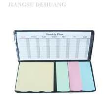 PU Cover Sticky Note Pad with Calendar