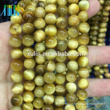 Atacado 6/8/10/12 mm granel natural Ouro Olhos de Tigre semi preciosas pedras preciosas de pedra para jóias