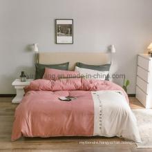 Wholesale Homestay 4 PCS King Bed Modern Design Polyester Microfiber Bed Sheet Set